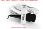 Nigeria polytechnics offering mass communication