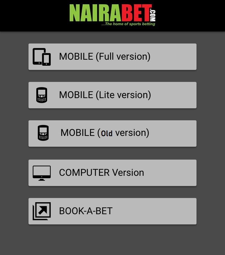 nairabet old mobile