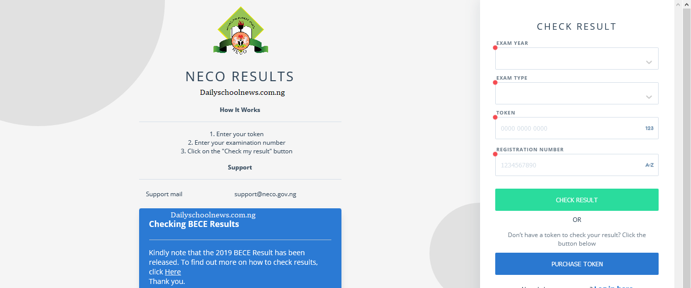 neco bece result