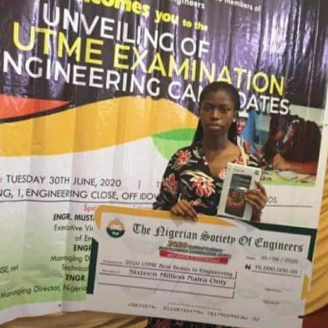 jamb candidate with highest score gets 16 million naira
